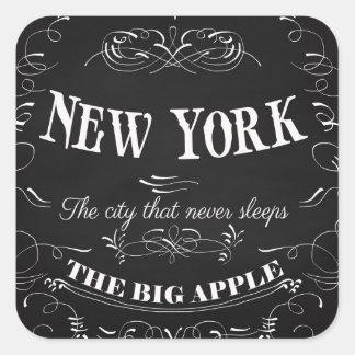 New York City New York-The City That Never Sleeps Square Sticker