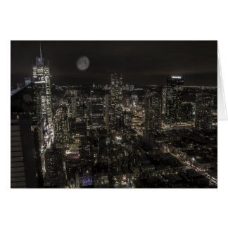 New York City Night Skyline Card