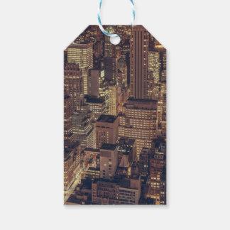 New York City Night Skyline Gift Tags