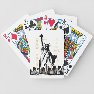 New York City Ny Nyc Statue of Liberty Bicycle Playing Cards