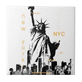 New York City Ny Nyc Statue of Liberty Ceramic Tiles