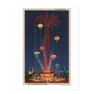 New York City, NY - Parachute Jump at World's Postcard
