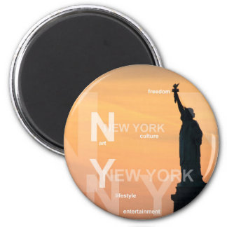 new york city ny statue of liberty usa 2 inch round magnet
