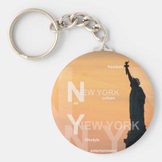 new york city ny statue of liberty usa keychain