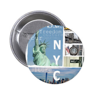 New York City Nyc 2 Inch Round Button