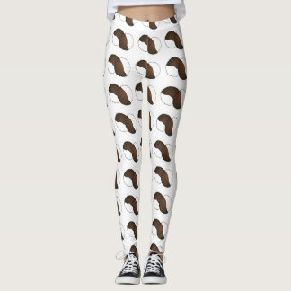 New York City NYC Black and White Cookies Cookie Leggings
