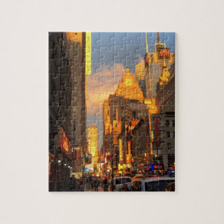 New York City NYC Broadway Theatre District Sun Jigsaw Puzzle