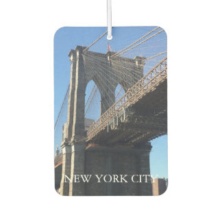 New York City NYC Brooklyn Bridge Photograph Car Air Freshener