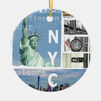 New York City Nyc Ceramic Ornament