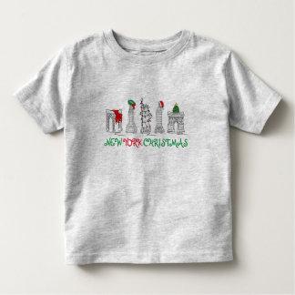 New York City NYC Christmas Landmarks Holiday Xmas Toddler T-shirt