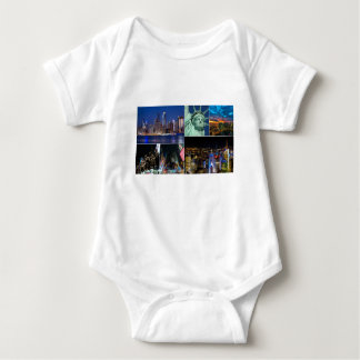 New York City NYC collage photo cityscape Baby Bodysuit