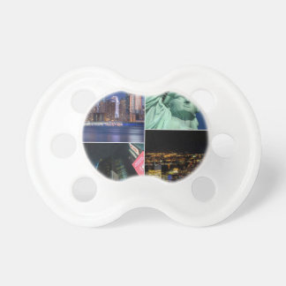 New York City NYC collage photo cityscape Baby Pacifiers