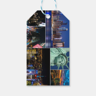 New York City NYC collage photo cityscape Gift Tags