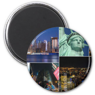 New York City NYC collage photo cityscape Magnet