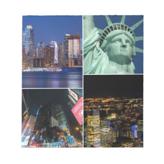 New York City NYC collage photo cityscape Notepad