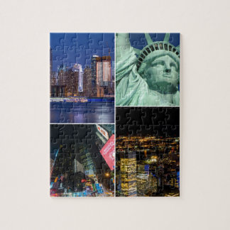 New York City NYC collage photo cityscape Puzzle