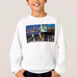 New York City NYC collage photo cityscape Sweatshirt