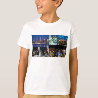 New York City NYC collage photo cityscape T-Shirt