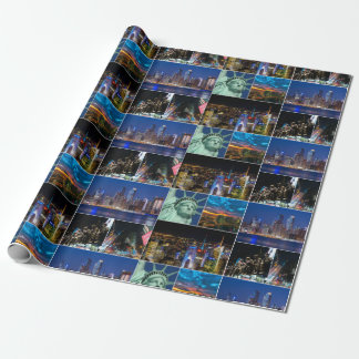 New York City NYC collage photo cityscape Wrapping Paper