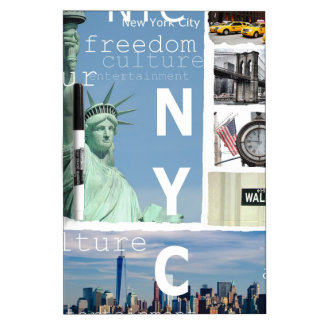 New York City Nyc Dry-Erase Whiteboards