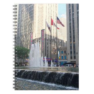 New York City NYC Fountain Sixth Avenue Photograph Notebooks