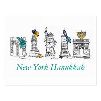 New York City NYC Hanukkah Chanukah Jewish Holiday Postcard