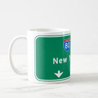 New York City NYC Interstate I-80 East Highway Coffee Mug