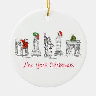 New York City NYC Landmarks Christmas Ornaments