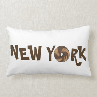 New York City NYC Marble Rye Bagel Bagels Pillow
