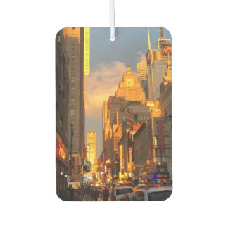 New York City NYC Midtown Manhattan Sunset Air Freshener