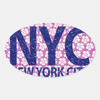 New york city NYC Oval Sticker