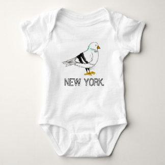 New York City NYC Pigeon Bird Baby Bodysuit