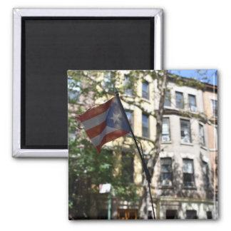 New York City NYC Puerto Rican Flag Photograph Magnet