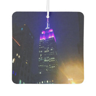 New York City NYC Purple Empire State Building Car Air Freshener