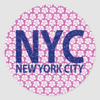 New york city NYC Round Sticker