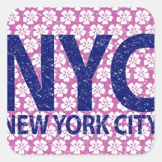 New york city NYC Square Sticker