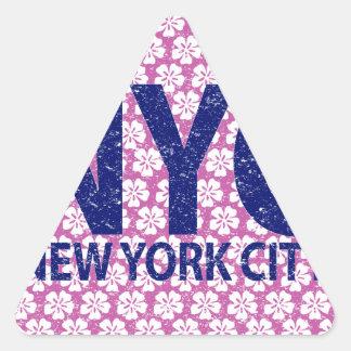 New york city NYC Triangle Sticker