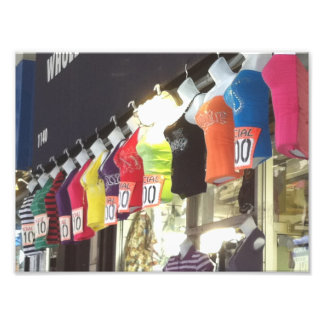 New York City NYC Wholesale District Clothing Sale Photo Print