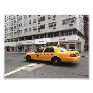New York City NYC Yellow Checkered Taxi Cab Car Photo Print