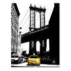New York City Nyc Yellow Taxi Pop Art Postcard