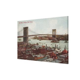 New York City, NYView of the Brooklyn Bridge Canvas Print