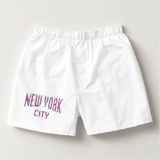 New York City on Spring Pink Rose Boxers