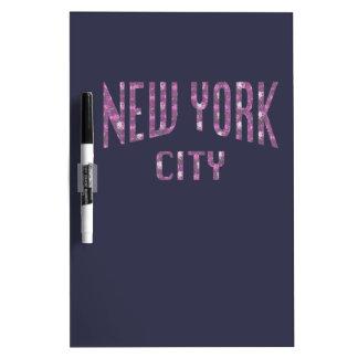 New York City on Spring Pink Rose Dry Erase Board