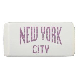 New York City on Spring Pink Rose Eraser