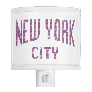 New York City on Spring Pink Rose Nite Light