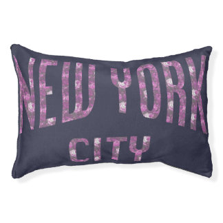 New York City on Spring Pink Rose Pet Bed