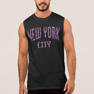 New York City on Spring Pink Rose Sleeveless Shirt