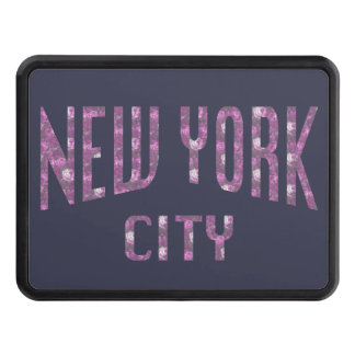 New York City on Spring Pink Rose Trailer Hitch Cover