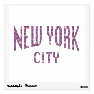 New York City on Spring Pink Rose Wall Decal