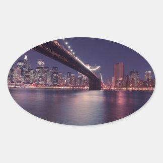 new-york-city oval sticker